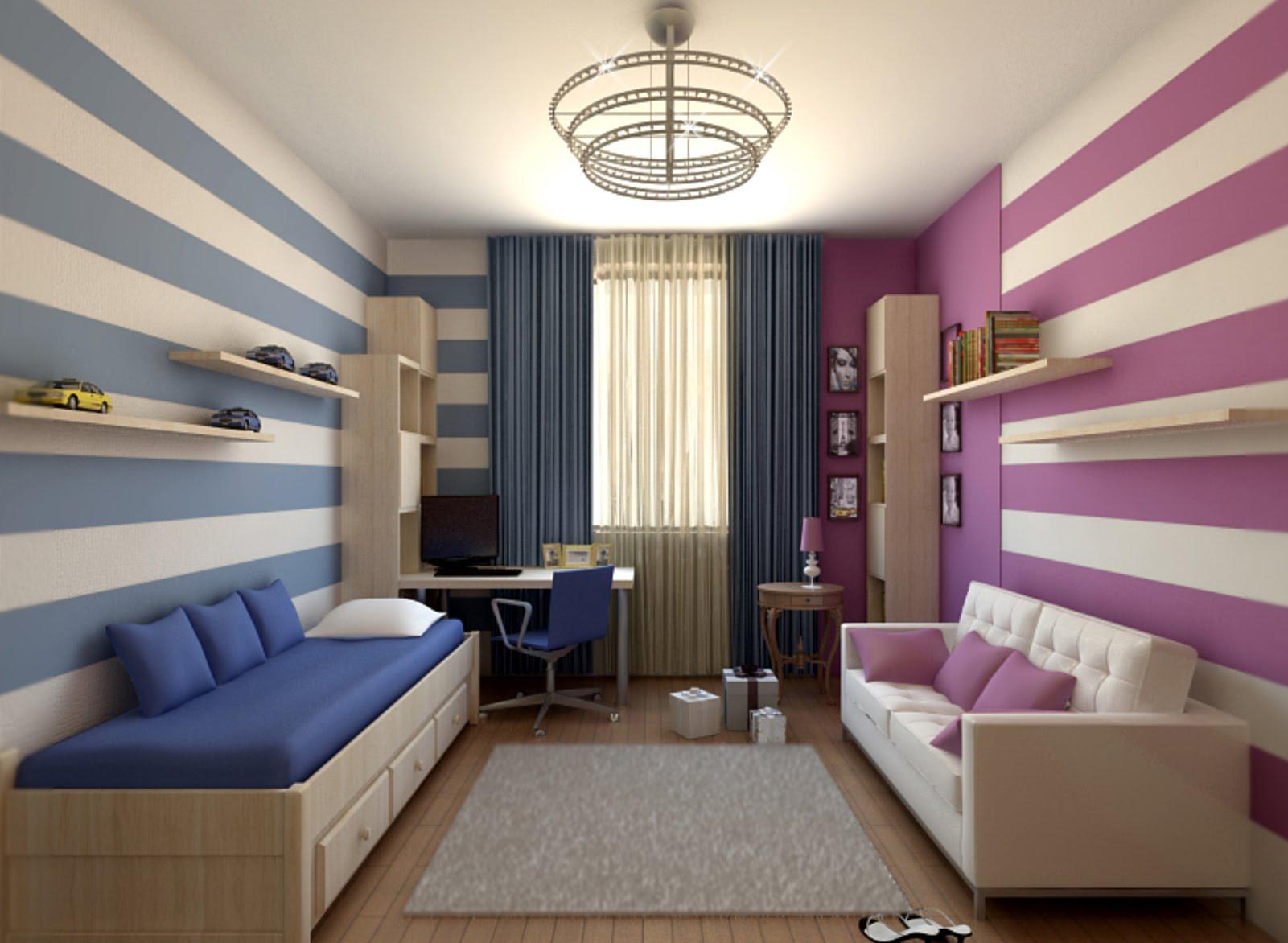 Дизайн-проект комнаты для разнополых детей